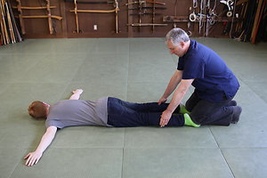 Hichibuku Level 1 . Kneel on feet & press calf